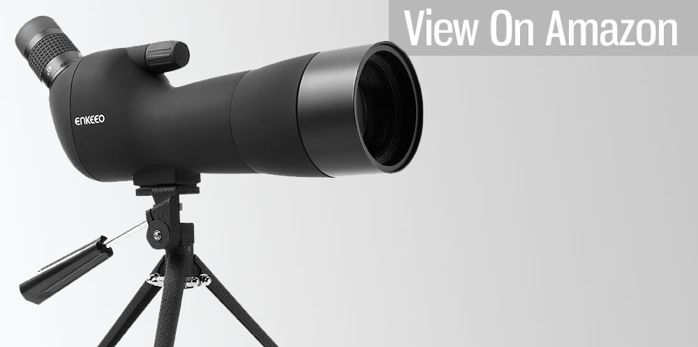 Waterproof Angled Spotting Scope with Tripod by Enkeeo