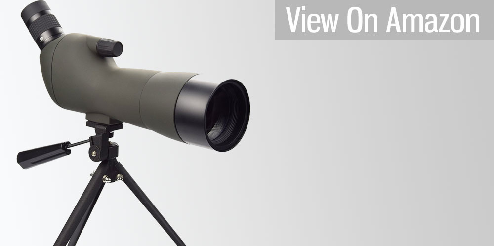 Telescope with 45-Degree Angled Eyepiece by Feyachi